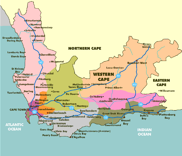 Map of Western Cape2015